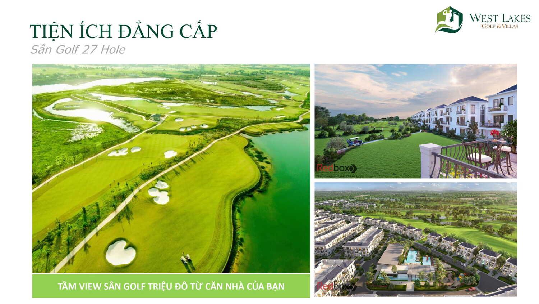 Tiện ích dự án biệt thự West Lakes Golf & Villas Long An