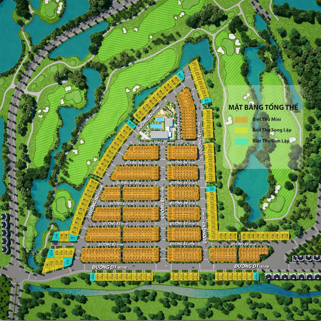 Tiến độ xây dựng West Lakes Golf & Villas mới nhất tháng 5