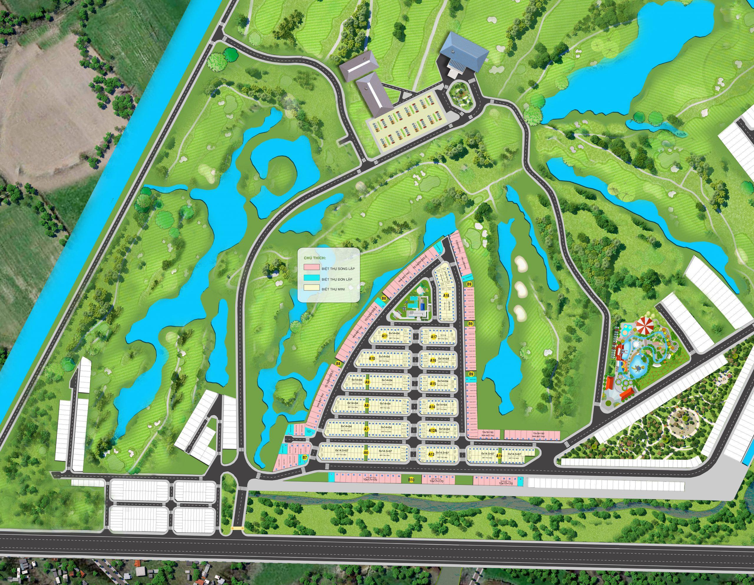 Thiết kế dự án biệt thự West Lakes Golf & Villas Long An